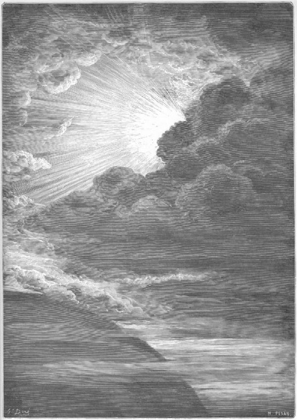 Dore, Gustave: The Creation of Light. Fine Art Print/Poster. Sizes: A4/A3/A2/A1 (001831)
